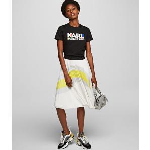 Karl Lagerfeld bauhaus stacked logo t-shirt 201W1733
