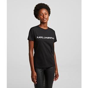 KARL LAGERFELD graffiti logo t-shirt 206W1701