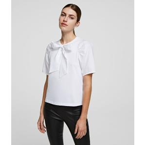 KARL LAGERFELD bow and puff sleeve t-shirt 206W1708