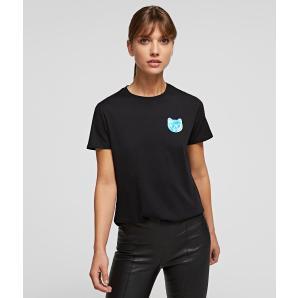 KARL LAGERFELD Mini Ikonik Choupette Balloon T-Shirt 211W1716