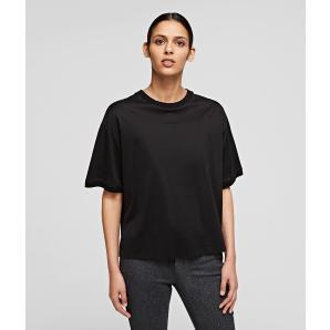 KARL LAGERFELD Mercericed Cotton Rue St. Guillaume T Shirt 211W1707-100