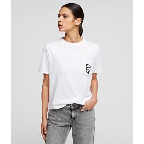 KARL LAGERFELD Ikonik Graffiti T Shirt 211W1718-100