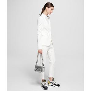 Karl Lagerfeld logo tape punto trousers 201W1015
