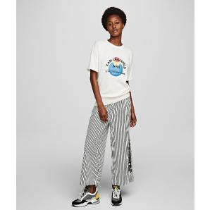 Karl Lagerfeld wide leg cotton trousers 201W1003
