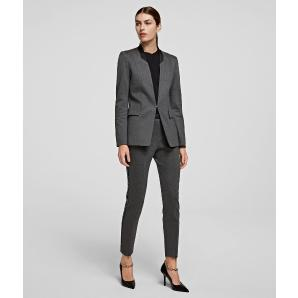 KARL LAGERFELD Slim Fit Punto Trousers With Logo Tape 206W1007