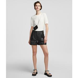 KARL LAGERFELD FAUX LEATHER SHORTS 215W1001