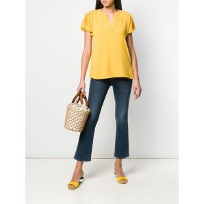 MICHAEL KORS lace-up blouse MH84LNT4YP