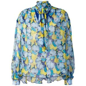 PINKO floral long-sleeve blouse 1G140S
