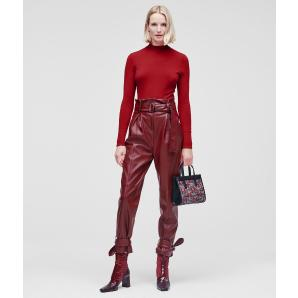 KARL LAGERFELD FAUX LEATHER PANTS