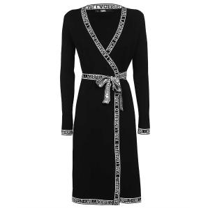 KARL LAGERFELD KNITTED WRAP DRESS 215W1330