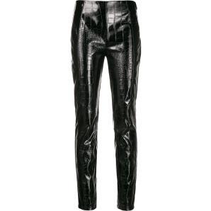 PINKO crocodile effect skinny trousers 1B13XW 7743-Z99