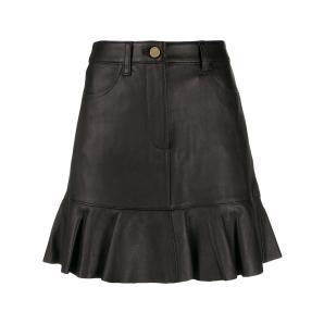 MICHAEL KORS ruffle hem leather skirt MF97F0Y8FX