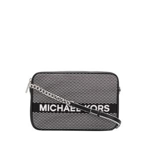Michael Kors logo embroidered shoulder bag