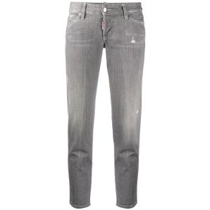 Dsquared2 Grey Denim Wash Jennifer Cropped Jeans S75LB0342