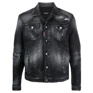DSQUARED2 ripped detail denim jacket S74AM1106