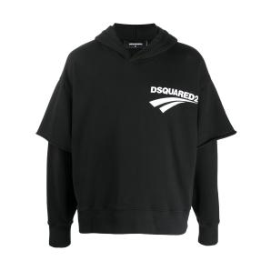 DSQUARED2 double layered hooded sweatshirt S74GU0440