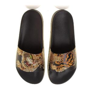 Dsquared2 SLM0017 tiger pool slides