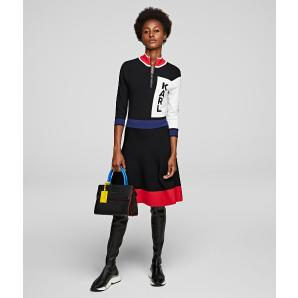 Karl Lagerfeld colour block logo dress 201W2005