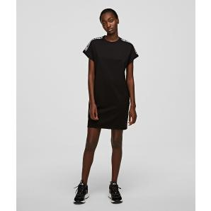 KARL LAGERFELD jersey t-shirt dress with logo tape 205W1352