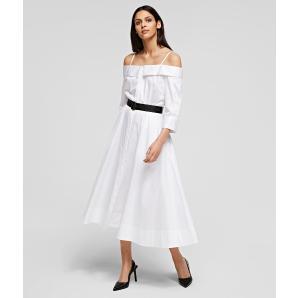KARL LAGERFELD Cold Shoulder Shirt Dress 211W1303-100