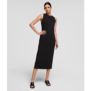 KARL LAGERFELD Logo Tape Snap Dress 211W1365-999