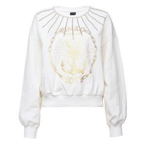 PINKO stud embellished logo print sweatshirt 1G15BR