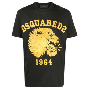 DSQUARED2 lion print t-shirt S74GD0716