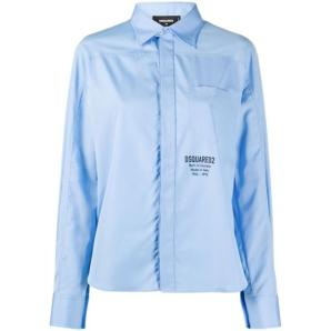 DSQUARED2 logo print cotton shirt S75DL0733