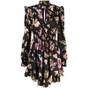 VERSACE Versailles print long sleeve dress D2HWA410