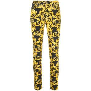 VERSACE skinny barocco print trousers A1HWA0K0