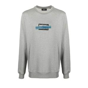 DIESEL cotton grey sweatshirt A01047-0KASL-9CB