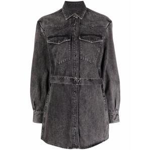 PINKO belted denim shirt 1J10RQ Y7GL