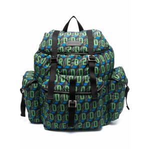 Dsquared2 monogram-print multi-pocket backpack