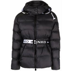 PINKO logo belt padded jacket 1G16XK Y833