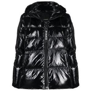 PINKO high-shine finish puffer jacket 1G16NF Y767
