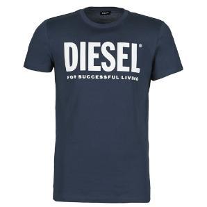DIESEL Logo T-shirt in fine cotton jersey 00SXED-0AAXJ