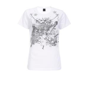 PINKO T-SHIRT WITH TOILE DE JOUY SPACE PRINT 1B1480