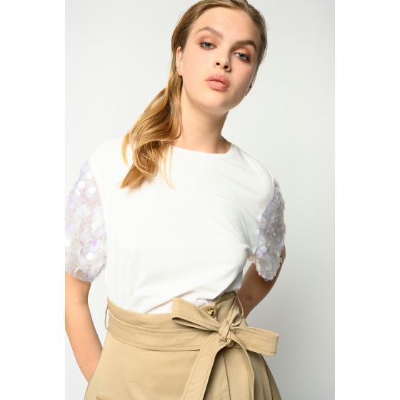 Pinko maxi sequins t-shirt 1B14EA5071-Z05-1