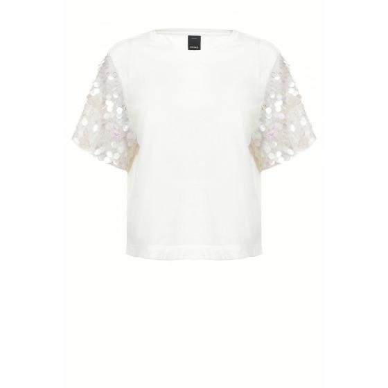 Pinko maxi sequins t-shirt 1B14EA5071-Z05-0