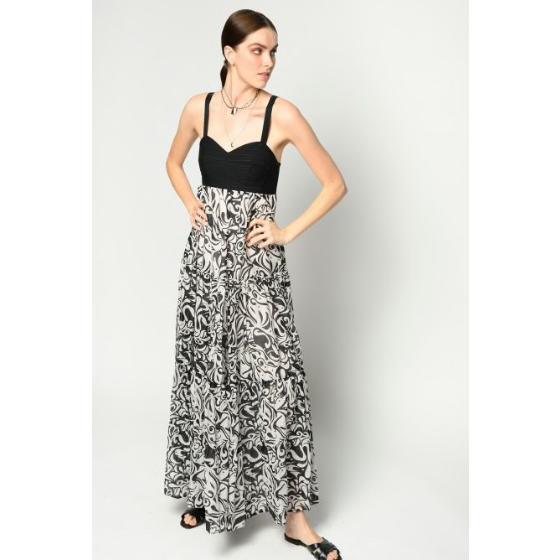 Pinko long japan print dress 1B14FC8038-ZBZ-2