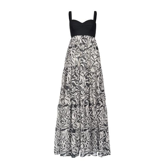 Pinko long japan print dress 1B14FC8038-ZBZ-0