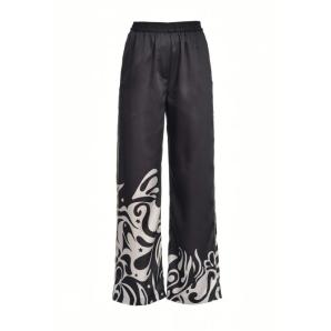 Pinko japan print wide trousers 1B14FE8056-ZB2