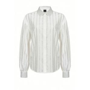 Pinko shirt with rhinestone stripes 1B14GV