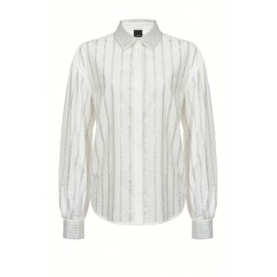 Pinko shirt with rhinestone stripes 1B14GV-0