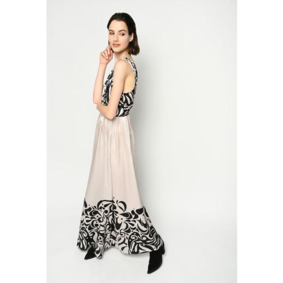 Pinko long japan print dress 1B14JV8056-ZBZ-1