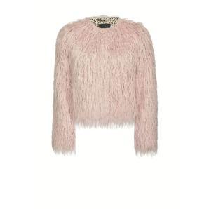 PINKO Mongolian effect faux fur body jacket 1B14Q8