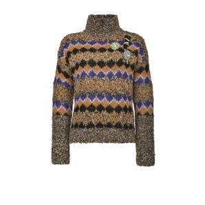 PINKO turtleneck pullover in boucle jacquard 1B14VU