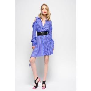 PINKO REGIMENTAL STRIPE TWILL SHIRTWAISTER DRESS1G13RJ