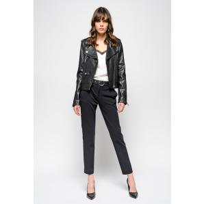 PINKO CIGARETTE FIT TECHNICAL MILANO STITCH TROUSERS 1G140N 6151