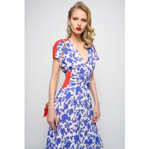 PINKO LONG DRESS WITH RASPBERRY PRINT 1G1452